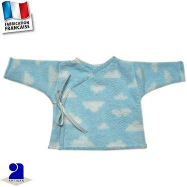 Gilet forme brassière, touché peluche Made in France