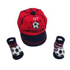 Casquette et chaussettes football
