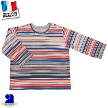 T-shirt manches longues, rayures