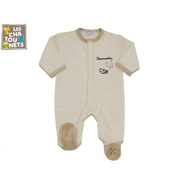 Pyjama bébé prématuré 00 mois dream, écru