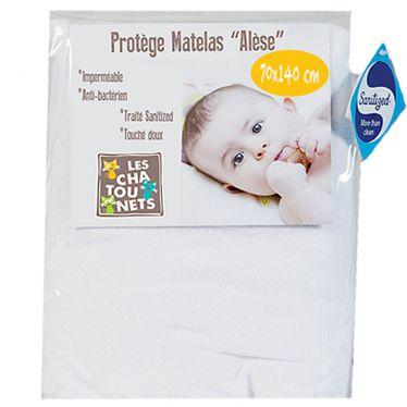 Alèse lit enfant 70 x 140 cm housse