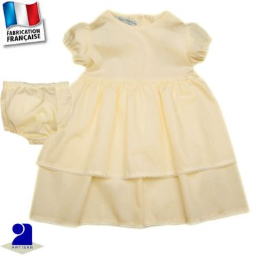 Robe + bloomer 0 mois-4 ans Made in France