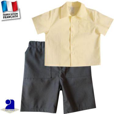 Bermuda et chemise 0 mois-10 ans Made in France