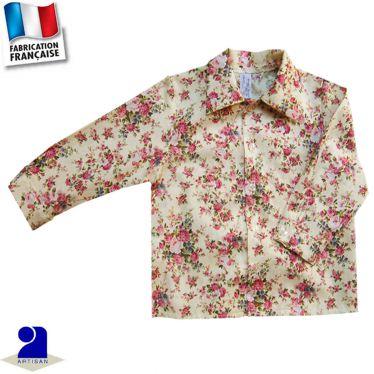 Chemise imprimé fleuri 0 mois-10 ans Made in France