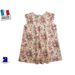 Robe trapèze bébé, plis piqués et manches courtes 845c76db78d