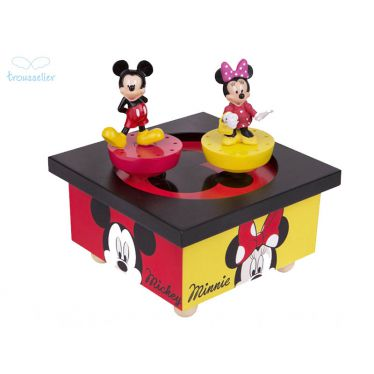 Boîte à musique dancing Mickey et Minnie