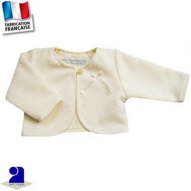 Boléro-gilet court 6 mois-2 ans Made in France