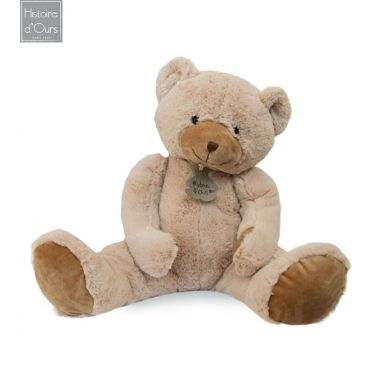 Peluche ours beige H 40 cm