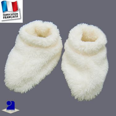 Chaussons polaire à poils longs Made In France
