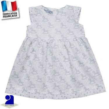 Robe imprimé coeurs et chevaux Made in France