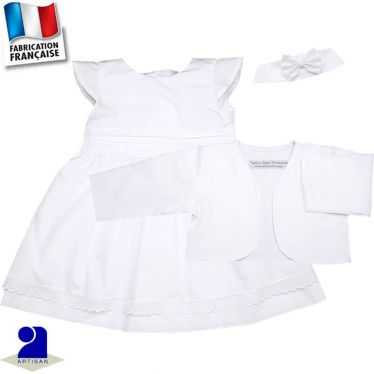 Robe, bolero, bandeau 0 mois-10 ans Made in france