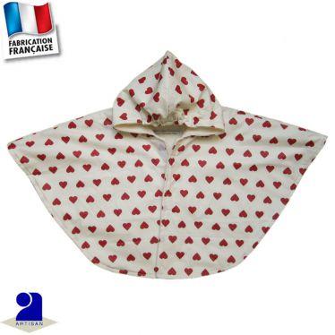 Cape imperméable imprimé Coeurs Made in France