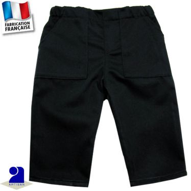 Pantalon uni deux poches Made in france