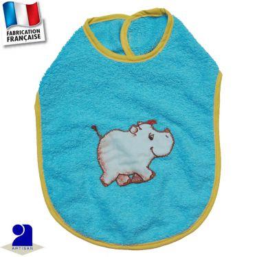 Bavoir Rhinoceros appliqué Made in France