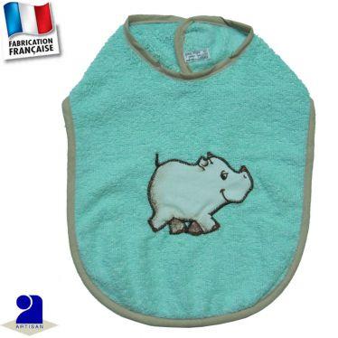 Bavoir Rhinocéros appliqué Made in France