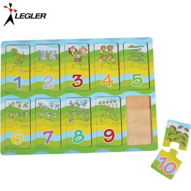 Puzzle en bois Apprendre les nombres