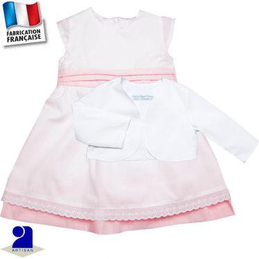 Robe + boléro 0 mois-10 ans Made in France
