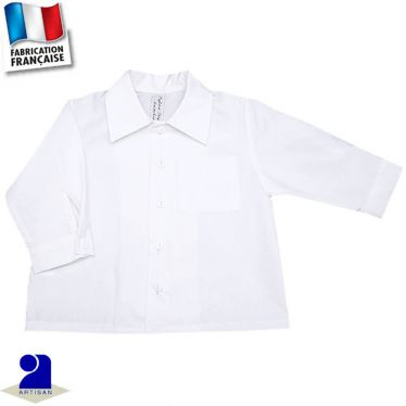 Chemise manches longues 0 mois-10 ans Made in France