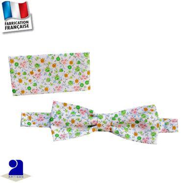Noeud papillon+pochette 0 mois-16 ans Made in France