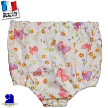 Bloomer-short imprimé Papillons Made in France