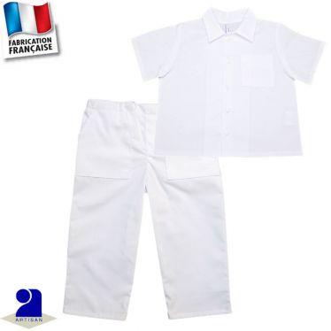 Ensemble 2 pièces pantalon et chemise, Made in France