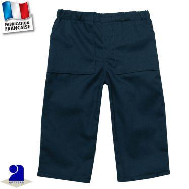 Pantalon uni deux poches Made in France