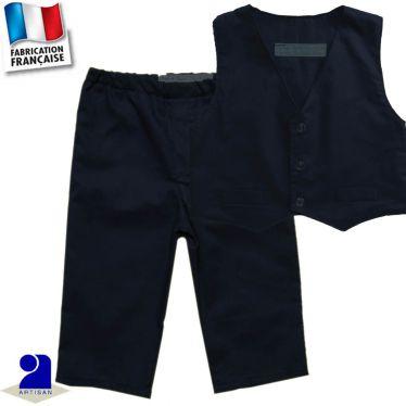 Ensemble pantalon + gilet 0 mois-10 ans Made in France