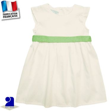Robe+ceinture 0 mois-10 ans Made in France