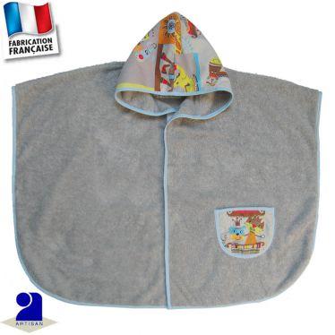 Poncho de bain avec poche Made in France