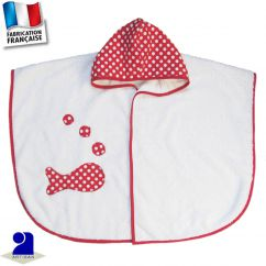 Poncho de bain imprimé poisson Made in France