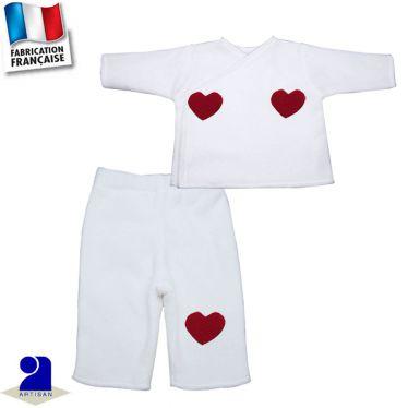 Pantalon+gilet 0 mois-12 mois Made in France