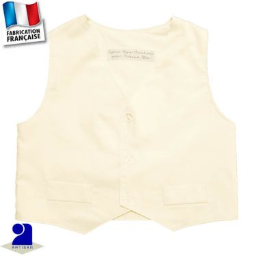 Gilet sans manches 0 mois-10 ans Made in France