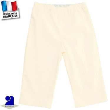 Pantalon uni 0 mois-10 ans Made in France