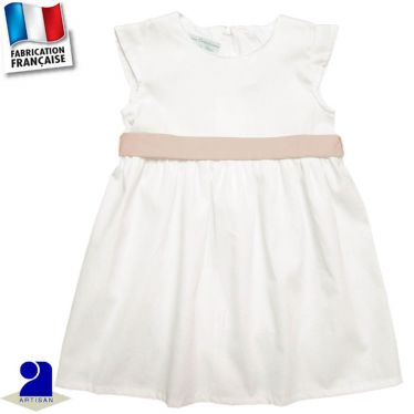 Robe+ceinture 0 mois-2 ans Made in France
