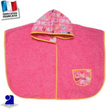 Poncho de bain avec poche Made in France