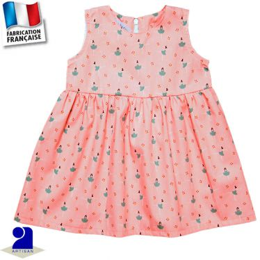 Robe sans manches imprimé Danseuses Made in France