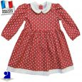 Robe col Claudine, manches longues Made in France
