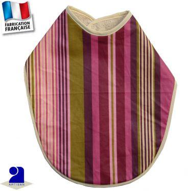 Grand bavoir imperméable rayures Made in France