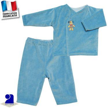 Ensemble pantalon + gilet brassière Made in France