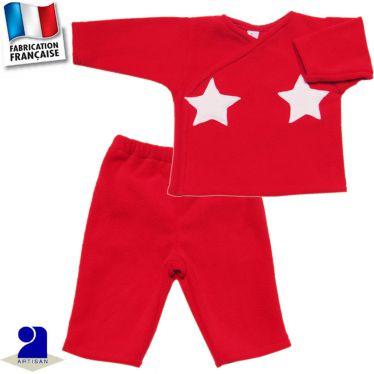 Pantalon+gilet chaud 0 mois-2 ans Made in France