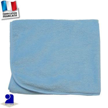 Couverture berceau uni touché peluche Made in France
