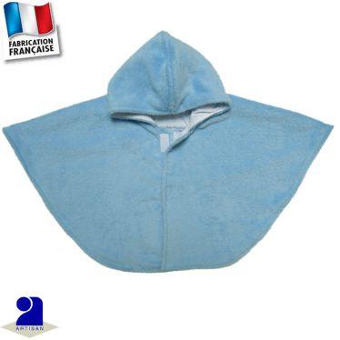 Poncho-Cape à capuche peluche Made in France