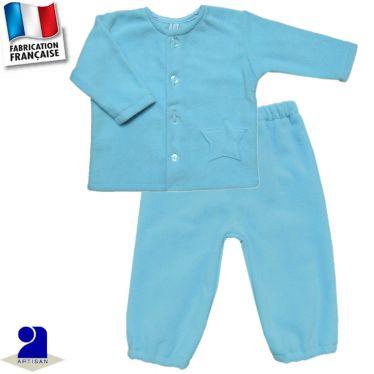 Gilet+pantalon chaud étoile appliquée 0 mois-2 ans Made in France