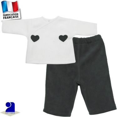 Gilet-brassière + pantalon chaud 0 mois-2 ans Made in France