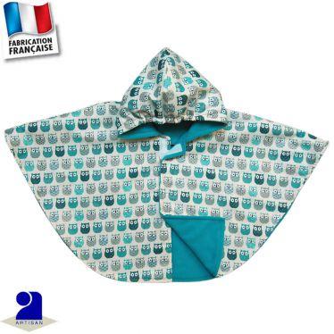 Cape imperméable imprimé Hiboux Made in France