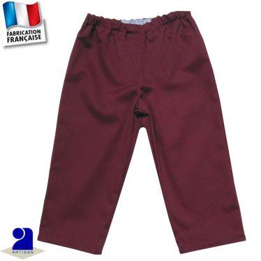 Pantalon élastiqué uni Made in France