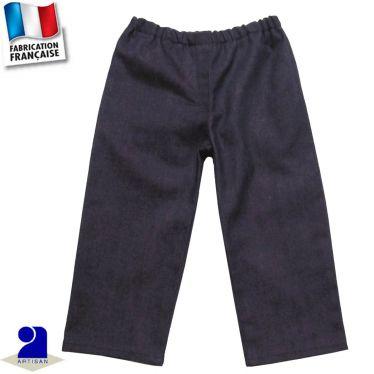 Pantalon élastiqué faux-uni Made in France