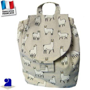 Sac à dos imprimé Lamas Made in France