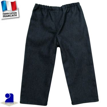 Pantalon élastiqué façon jean Made in France