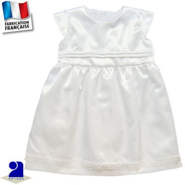 Robe deux jupons brillante 0 mois-14 ans Made in France